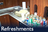 Monterey Tours - Refreshments